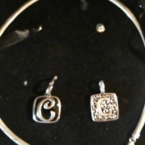 C Initial necklace